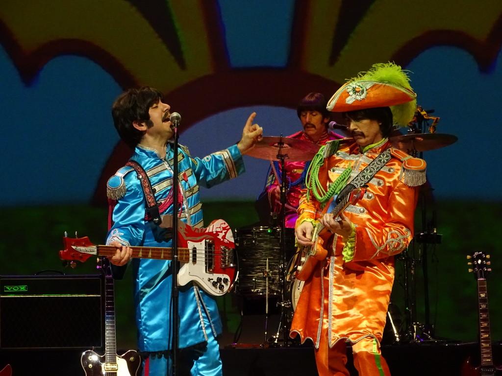 """The Fab Three"" rock Sgt. Pepper."