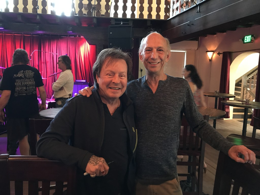 """The Rock Doc"" Neil Ratner MD (right) with Rick Derringer."
